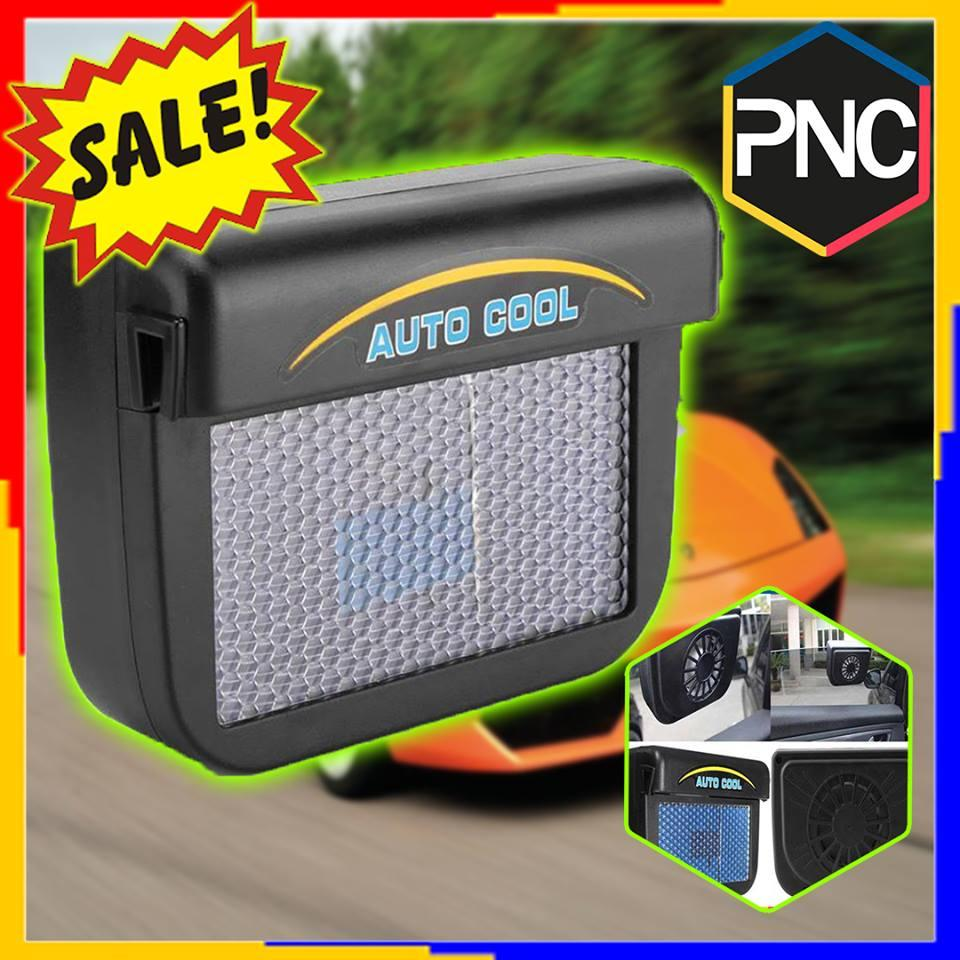 Auto Cool Car Window Solar Powered Air Vent Cooling Fan Ventilation With Rubber Strip Radiator System By Pop And Click.