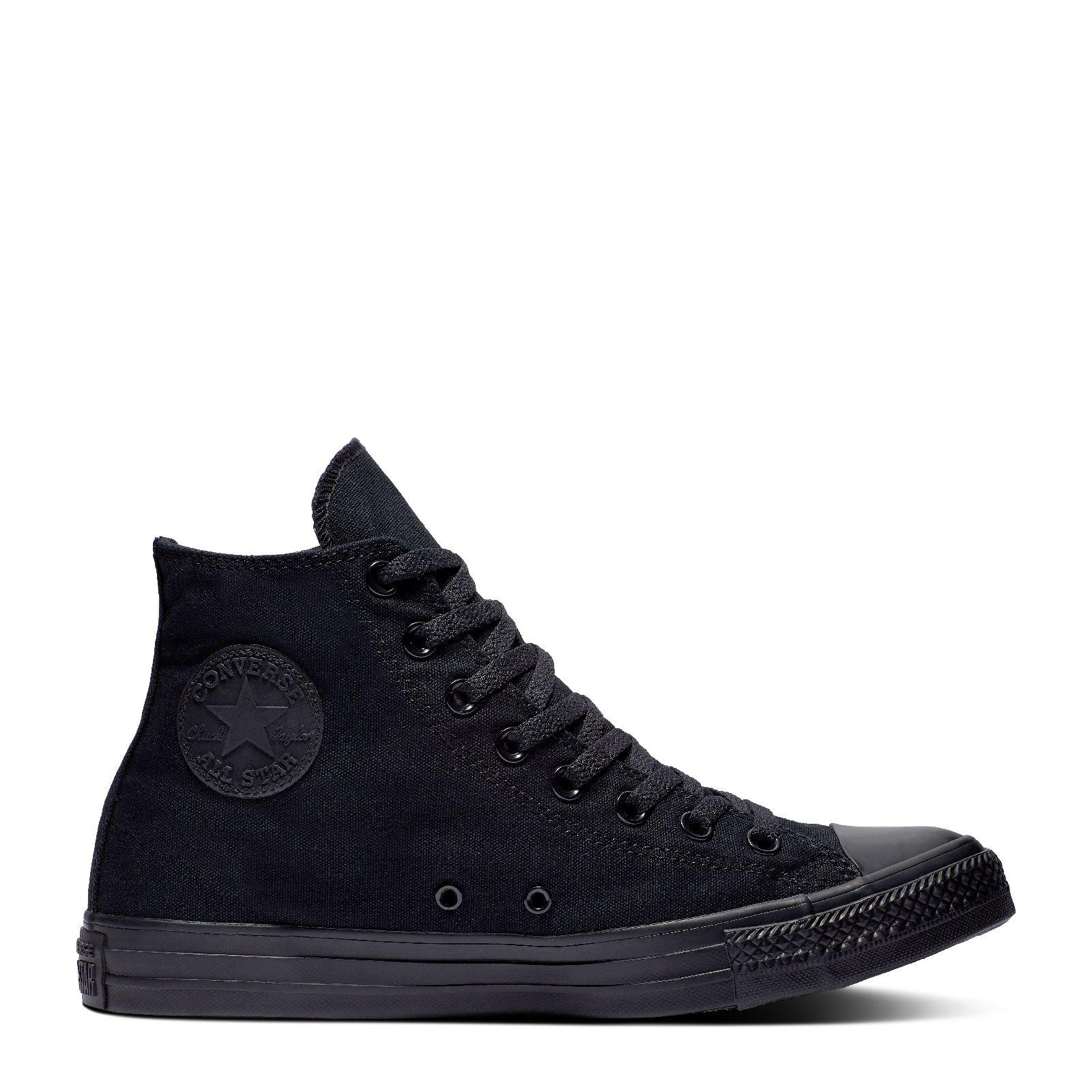 cd2ae74f957375 CONVERSE CHUCK TAYLOR ALL STAR - HI - BLACK MONOCHROME - 19162 - M3310C