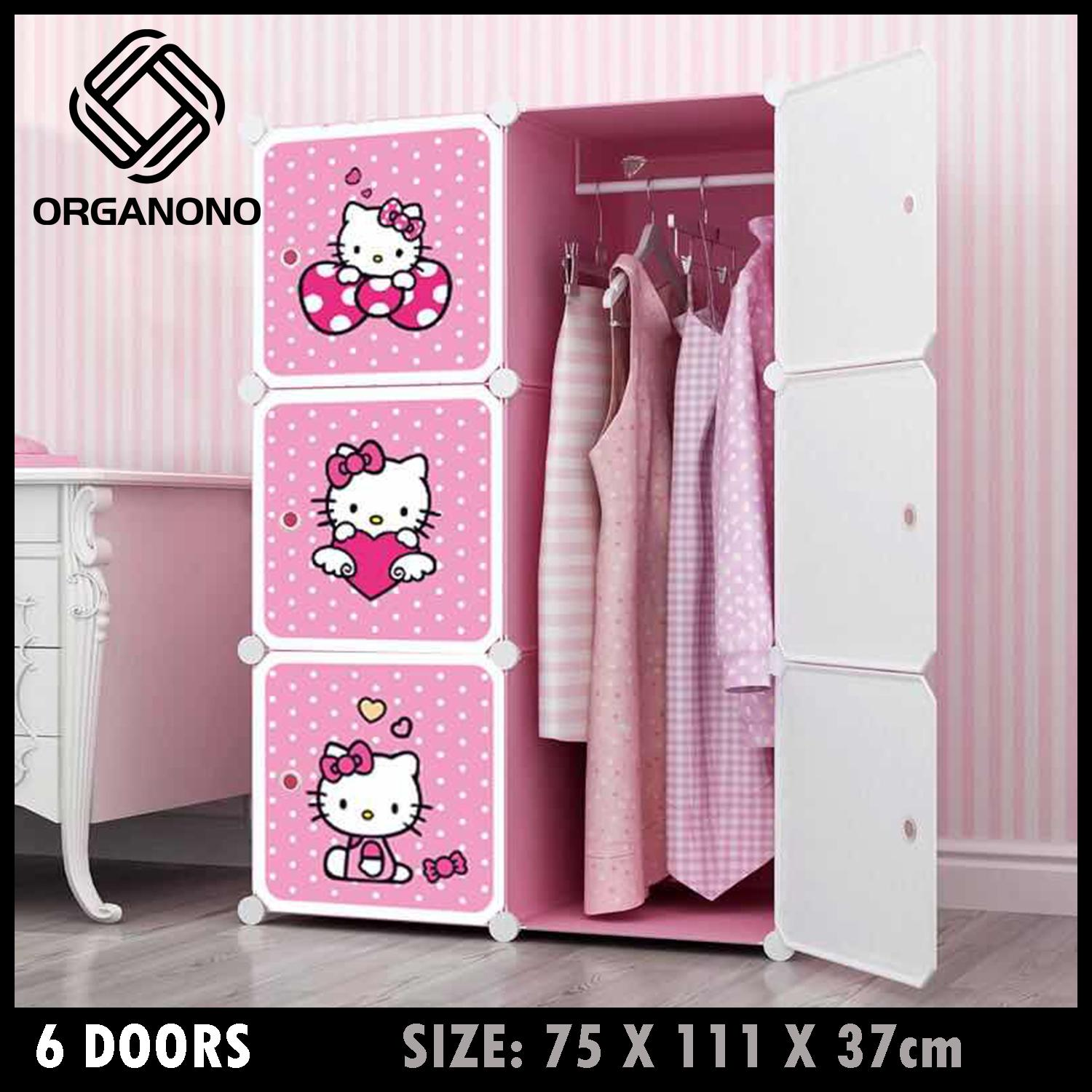 7fb7c433d Organono Screwless Kitty Multipurpose 6 Doors cubes DIY Clothes Storage  Dress Cabinet Wardrobe Room Space Saver