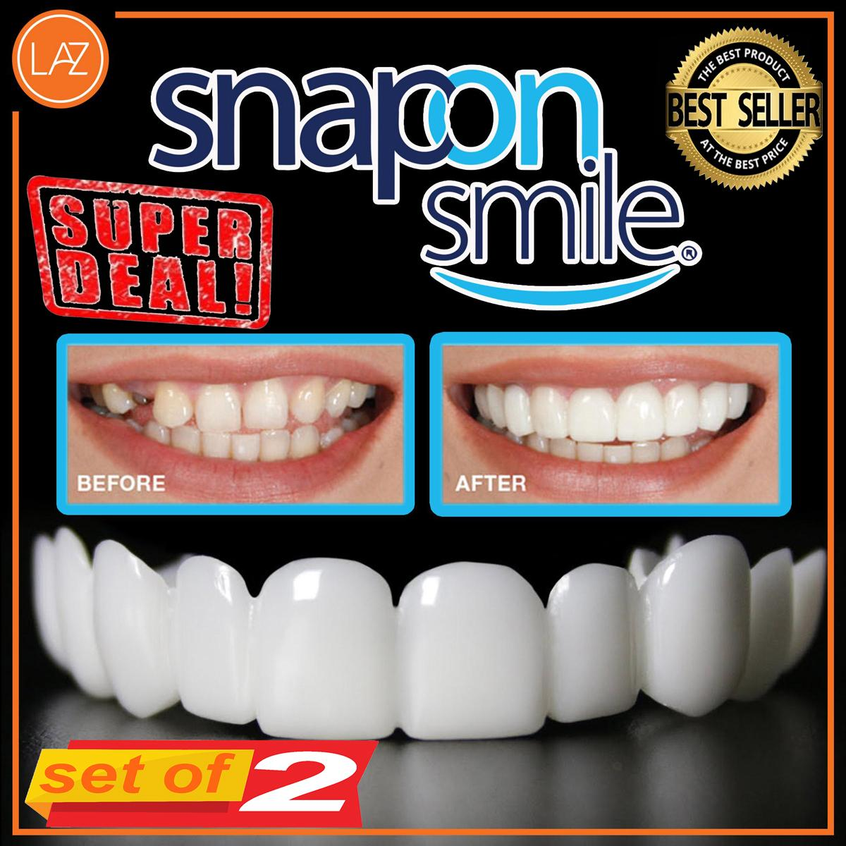 Set Of 2 Snap On Smile Instant Smile Comfort Fit Flex Cosmetic Teeth One  Size Fits Most Comfortable Denture Care By Gift Of Wann