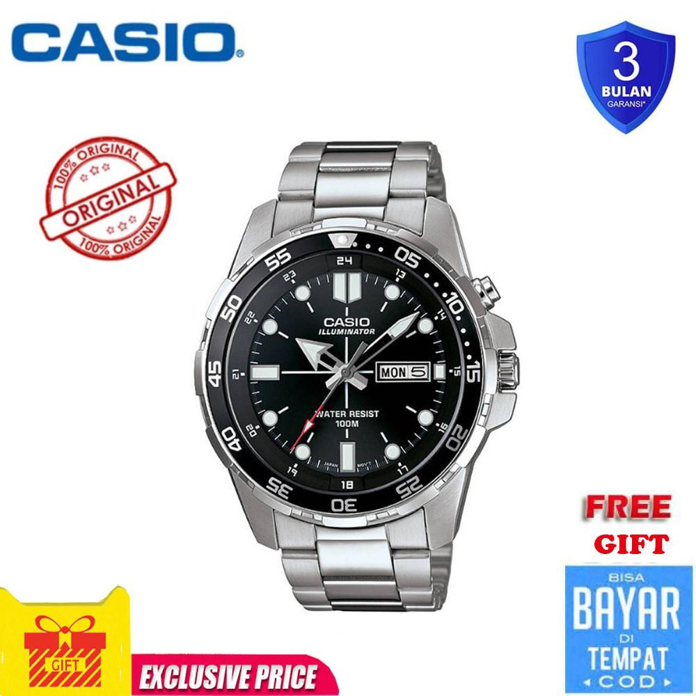 945504bb6 Casio watch Men's Sports Watch Waterproof 100M Fashion Stainless Steel  quartz watch MTD1079D-1AV