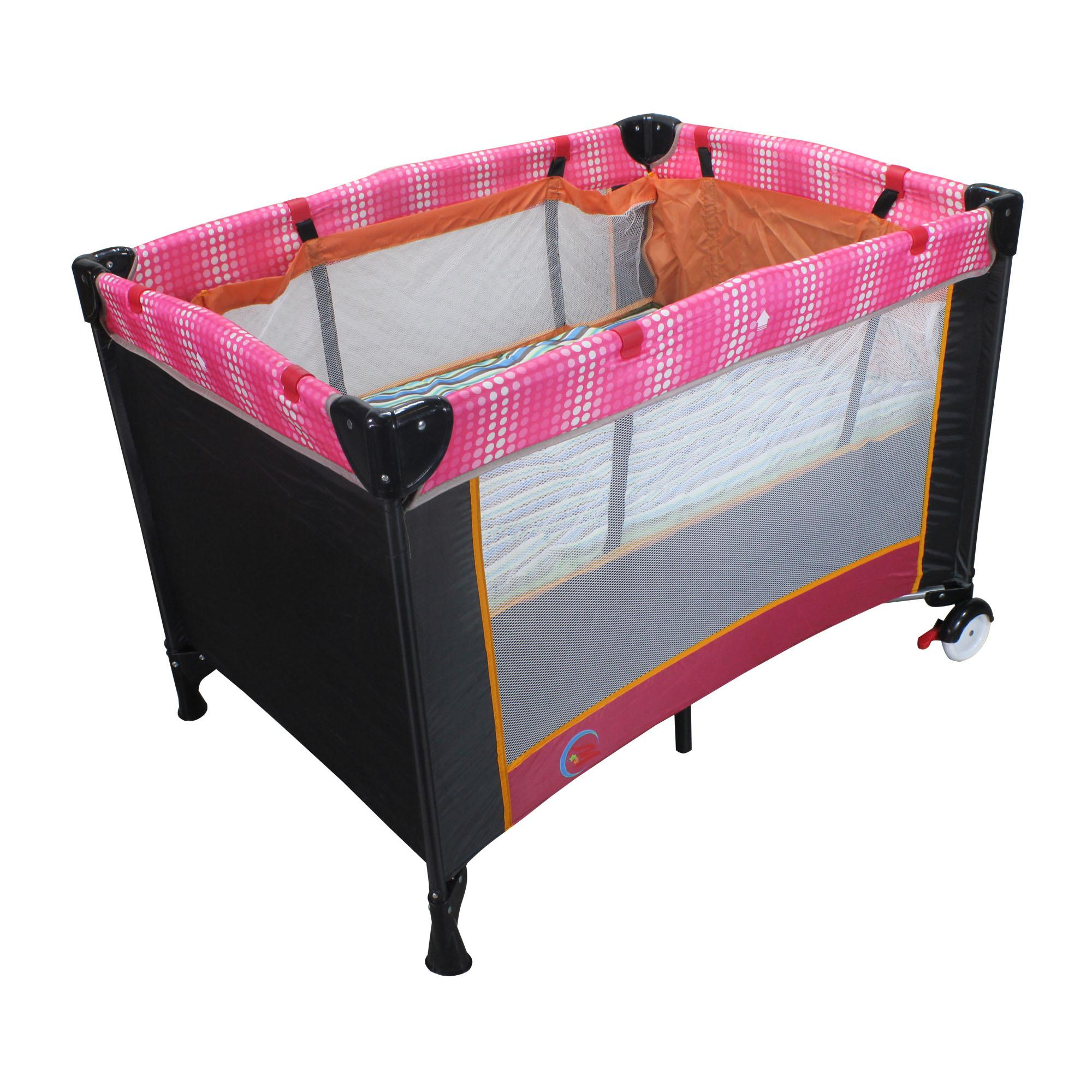 New Unicorn Baby Portable Foldable Playpen Play Yard Baby Crib 03(Pink/black) image
