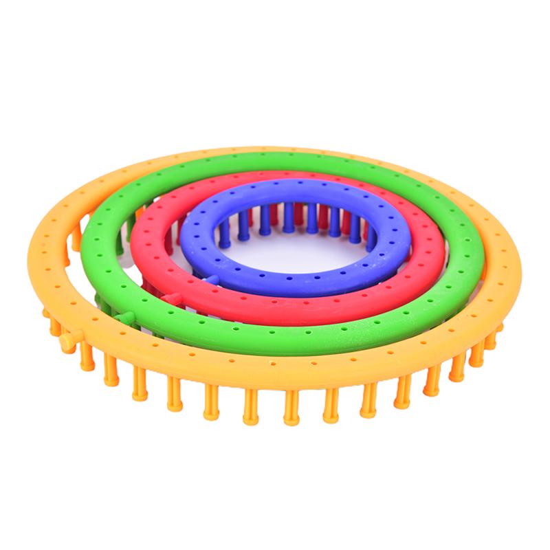 Qinkelai 4Size Round Knitter Looms DIY Tool Kit Plastic Round Circle Creative Hat Sweater
