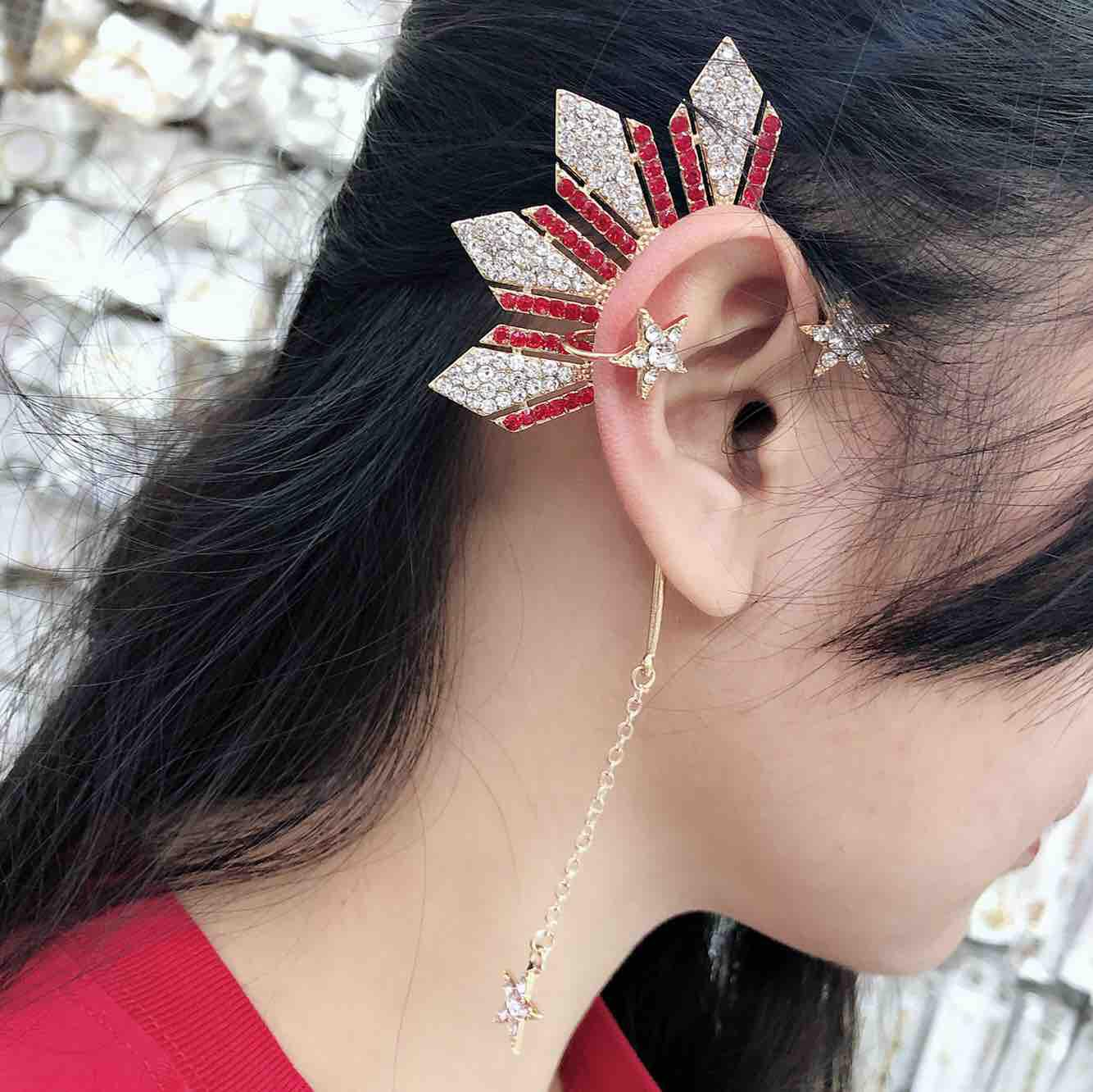 Ear cuff new style with stone