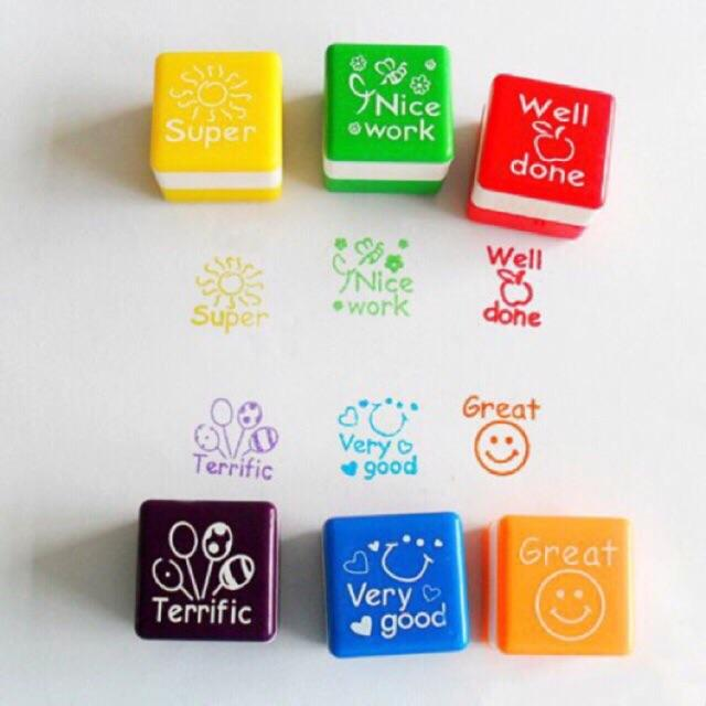 Teacher Collection Auto Ink Stamp Set (multicolor) By The Unique Shop.