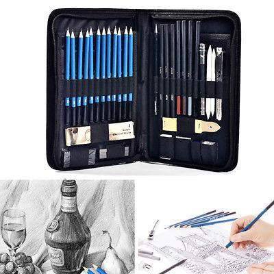 40Pcs Sketch Pencils Eraser Charcoal Pencil Drawing Art Supply Set