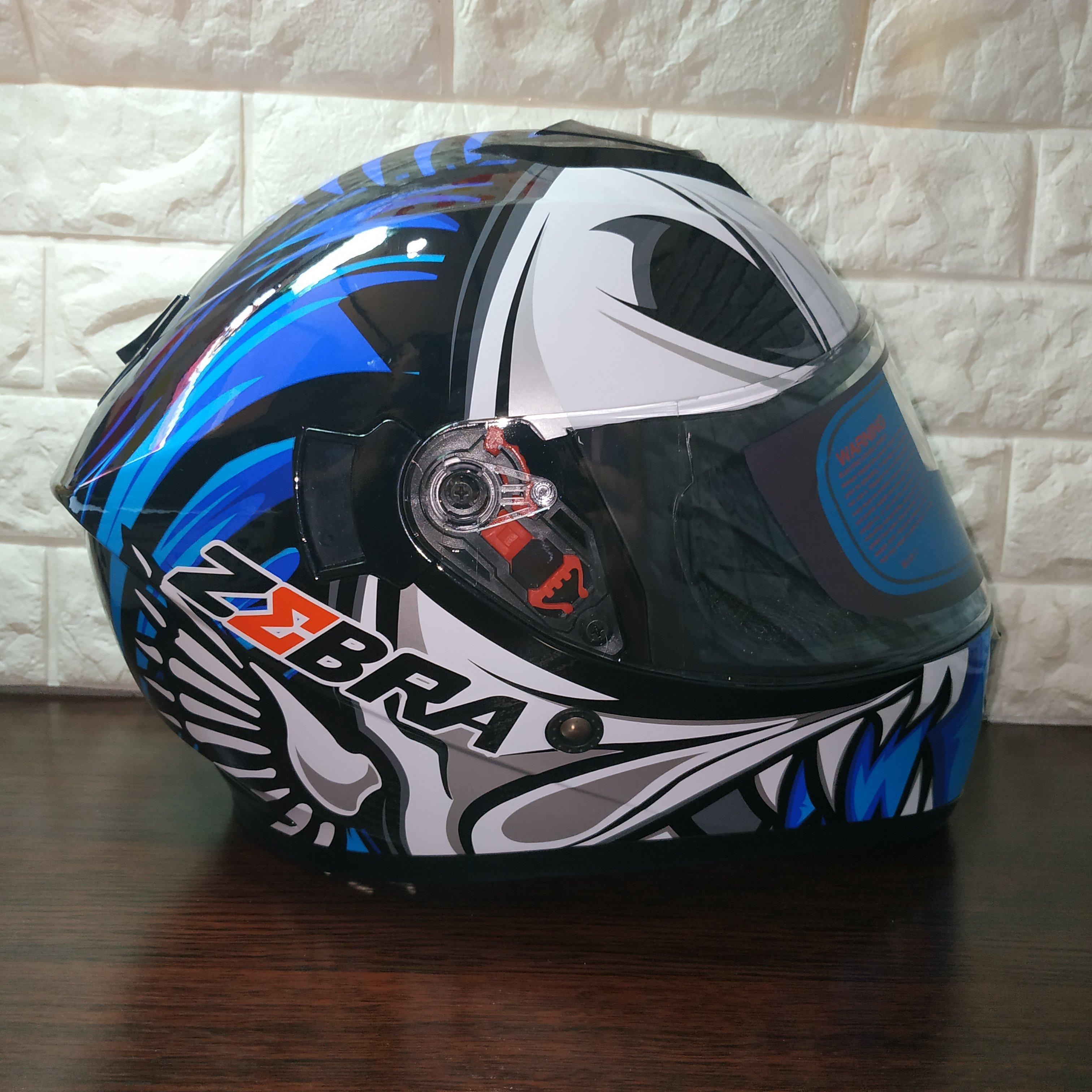 0f47568a Zebra Full Face Dual Visor Helmet   Lazada PH