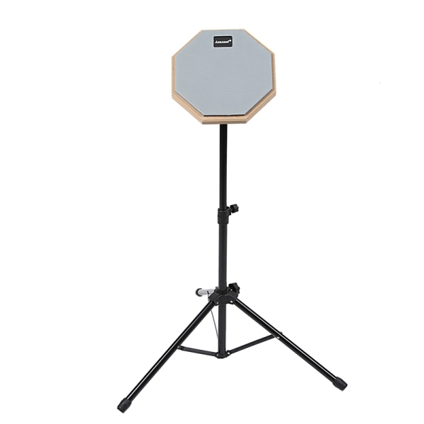 8 Inch Rubber Wooden Dumb Drum Practice Training Drum Pad With Stand for Percussion Instruments Parts
