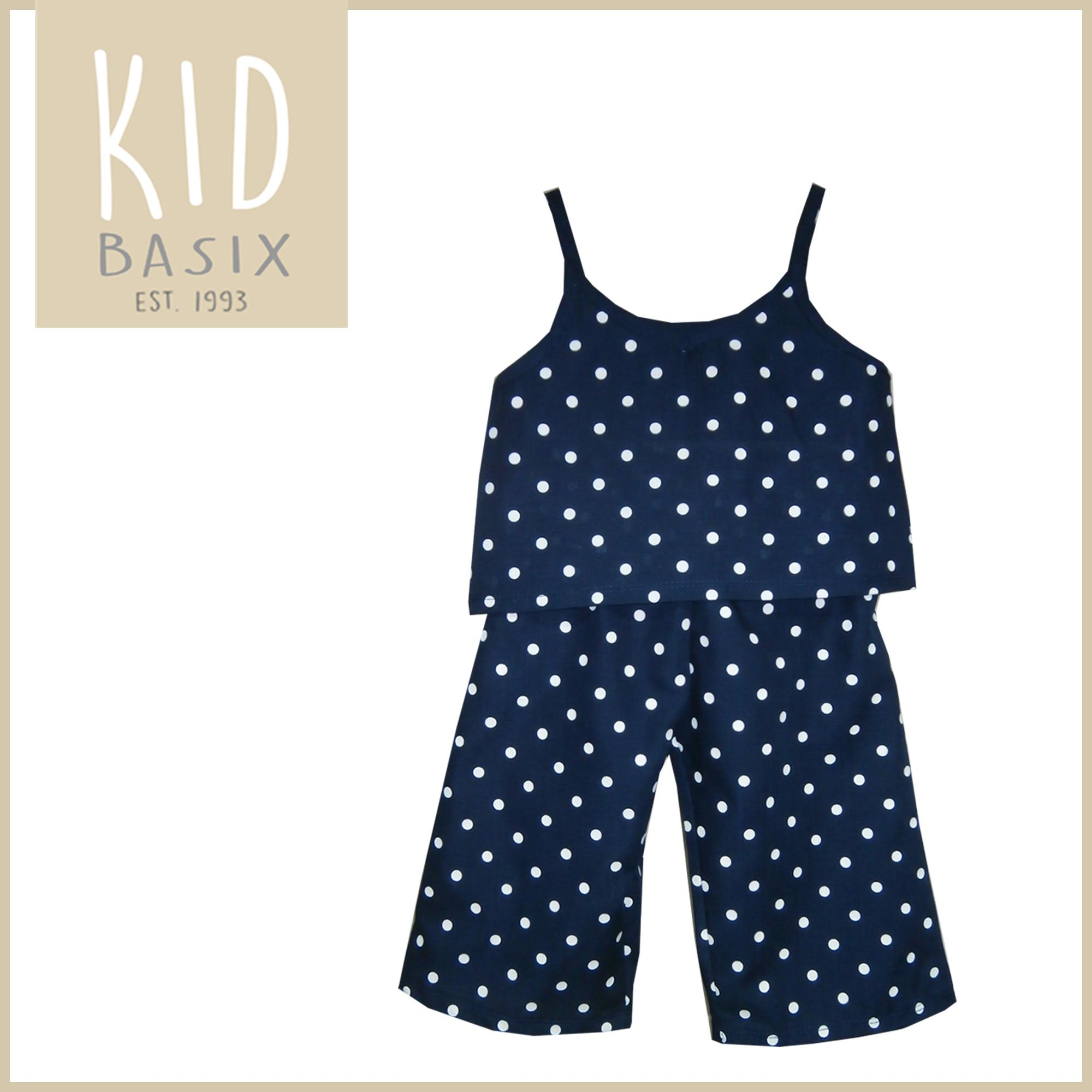 7a675618c Kid Basix Kids Clothes for Girls Terno Navy Polka Dots Girls (Code - 4151)