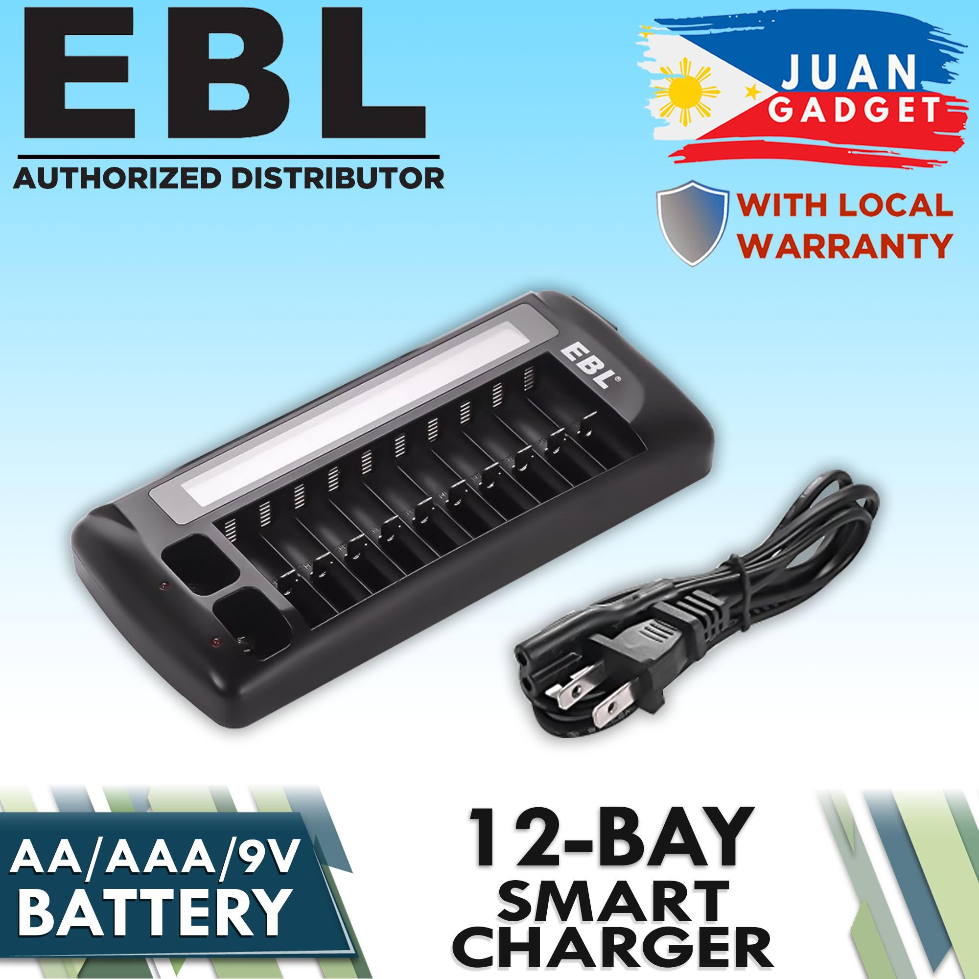EBL 999 Rechargeable Battery Charger 12 Slot Battery Charger AA AAA 9V