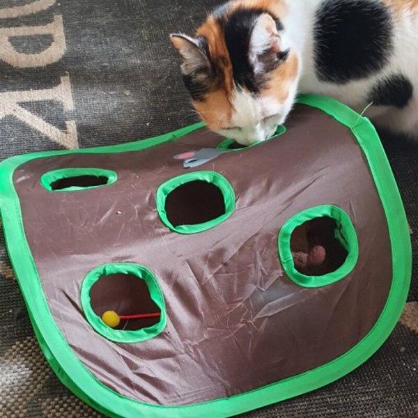 Đồ Chơi Thông Minh, Đồ Chơi Giáo Dục Cho Mèo Đường Hầm 9 Lỗ, Chuột Trò Chơi Trốn Tìm Tương Tác Săn Thú Cưng Ẩn Lỗ Đồ Chơi Gấp Gọn Cho Mèo