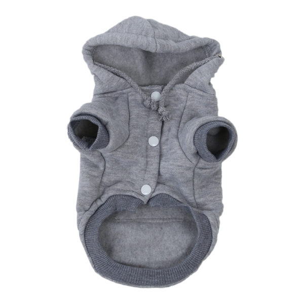 Cat Dog Clothes Winter Warm Knitwear for Christmas Puppy Dog Jacket Hooded Coat Clothing (Gray, S)