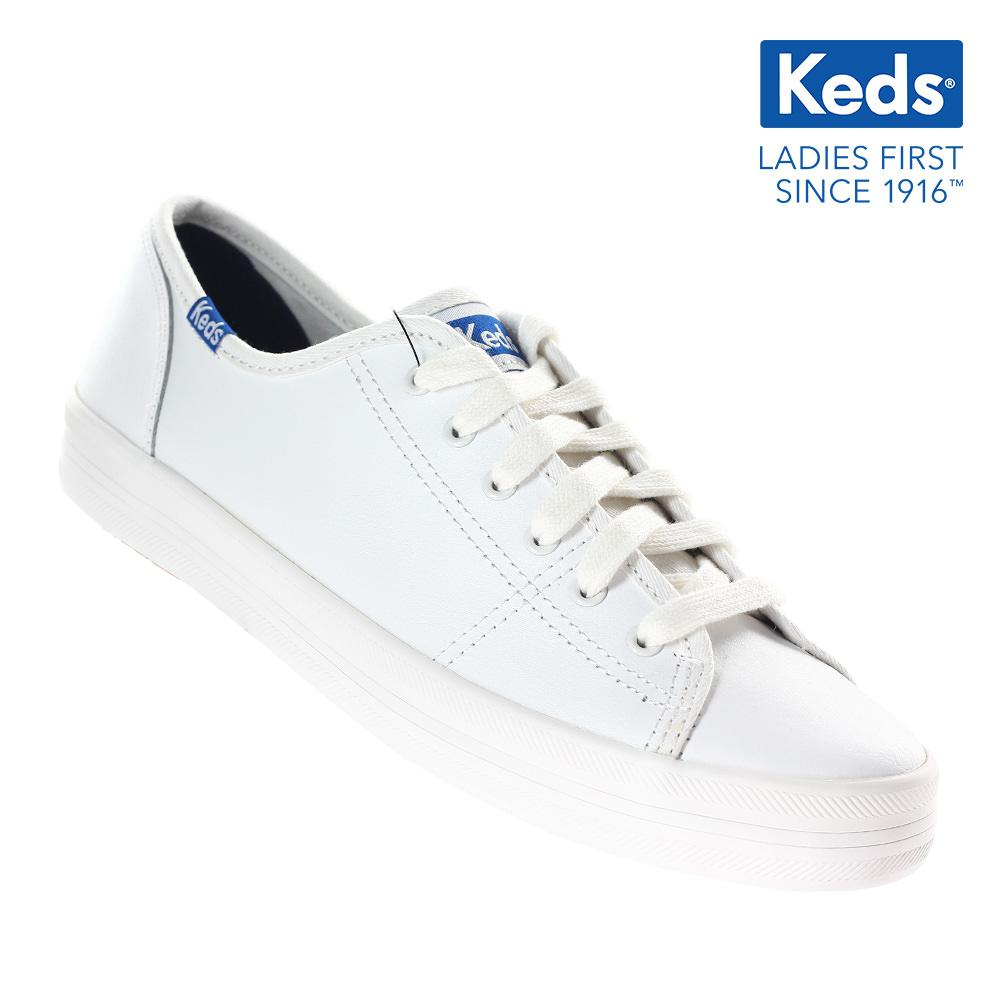 7d4c6ee4eaa Keds Kickstart Retro Court Leather Lace-up Sneakers (White) WH57559