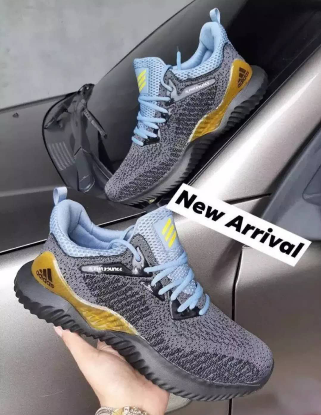 Adidas shoes alphabounce for men Original Basketball shoes for men and shoes sports Rubber shoes black gray shoes on sale