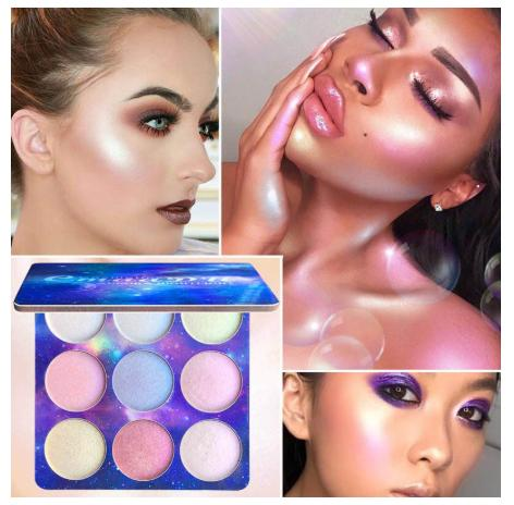 Baked Highlighter Powder  Palette 9 Colors Philippines