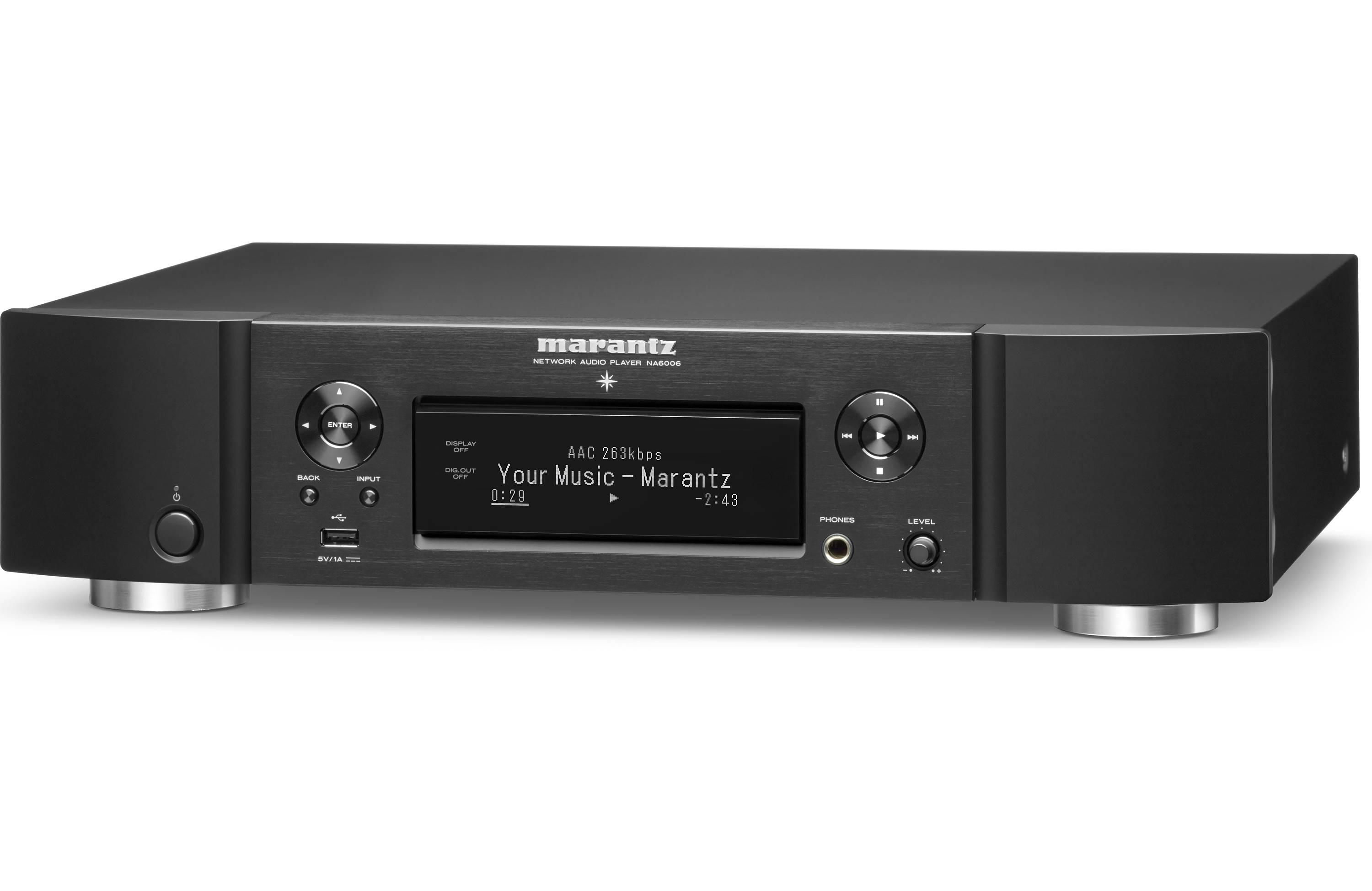 Marantz NA6006 Network music player with Wi-Fi®, Bluetooth® and Apple®  AirPlay® 2 (black)