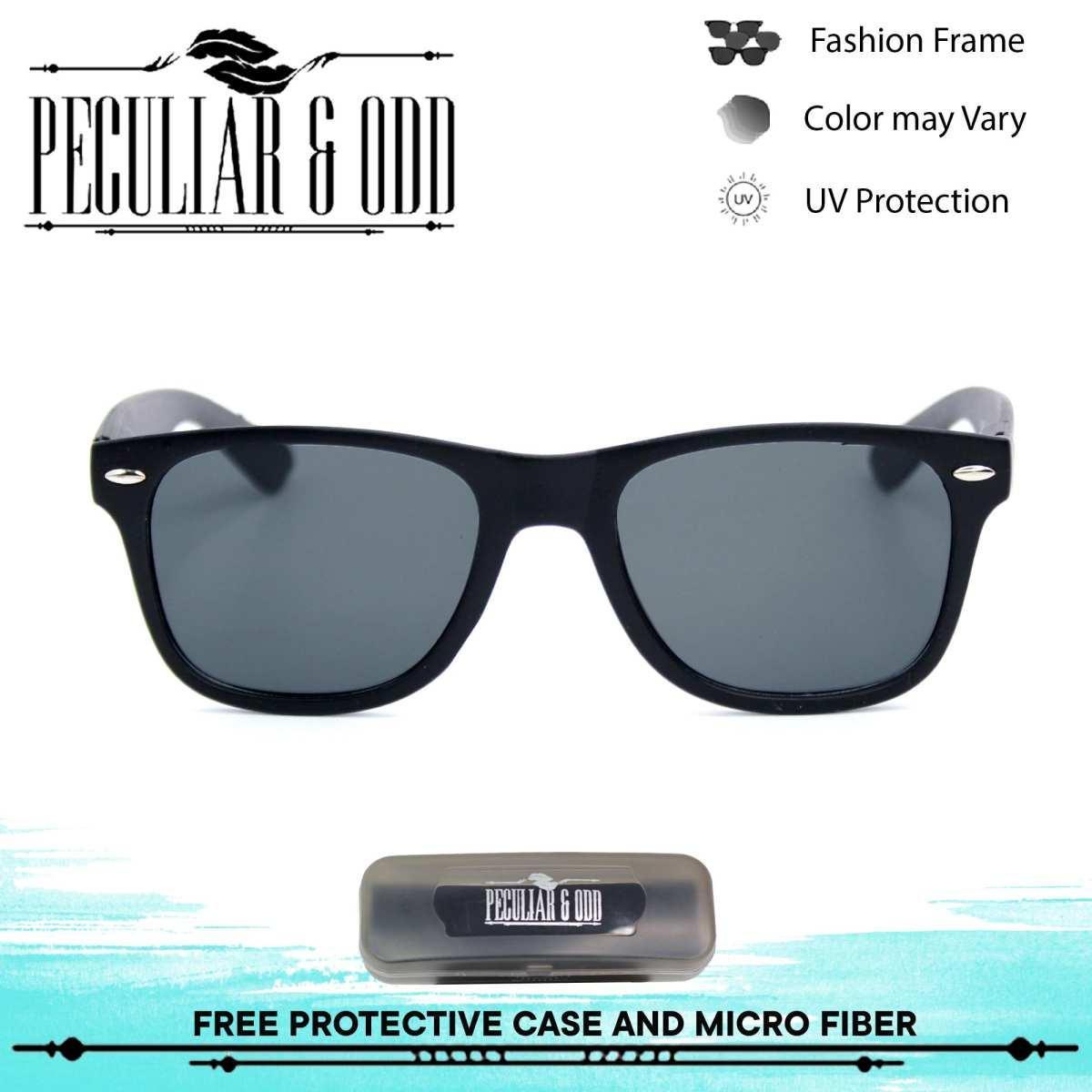 294364f308 Peculiar Wayfarer Classic Sunglass 8839 JetBlack in Black Frame and Flash  Lenses