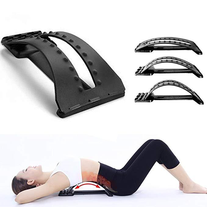 Back Magic Muscle Stretcher Lumbar Pain Relief Adjustable Physiotherapy Plus Posture Corrector Spine Alignment 3 Position Arch Theraphy Cushion Rest Back & Abdomen Support By Mulisen.