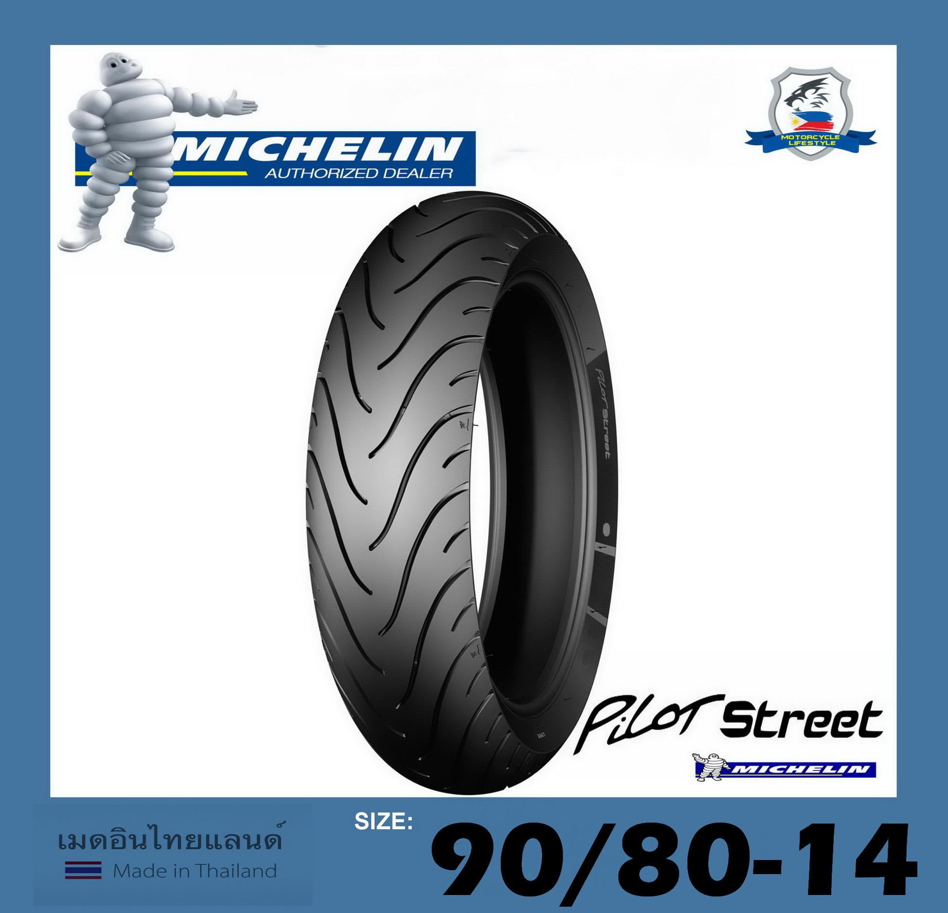 Motorcycle Tire Sizes >> Michelin Motorcycle Tire 80 90 R14 Pilot Street Tl Tt Lazada Ph
