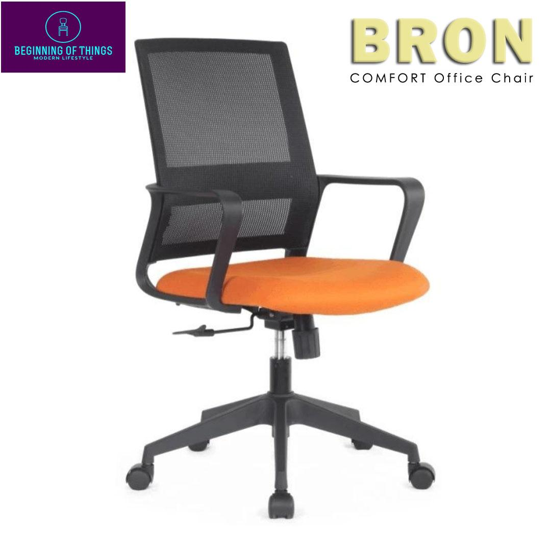 Picture of: Bron Ergonomic High Back Executive Office Chair Orange Color Lazada Ph
