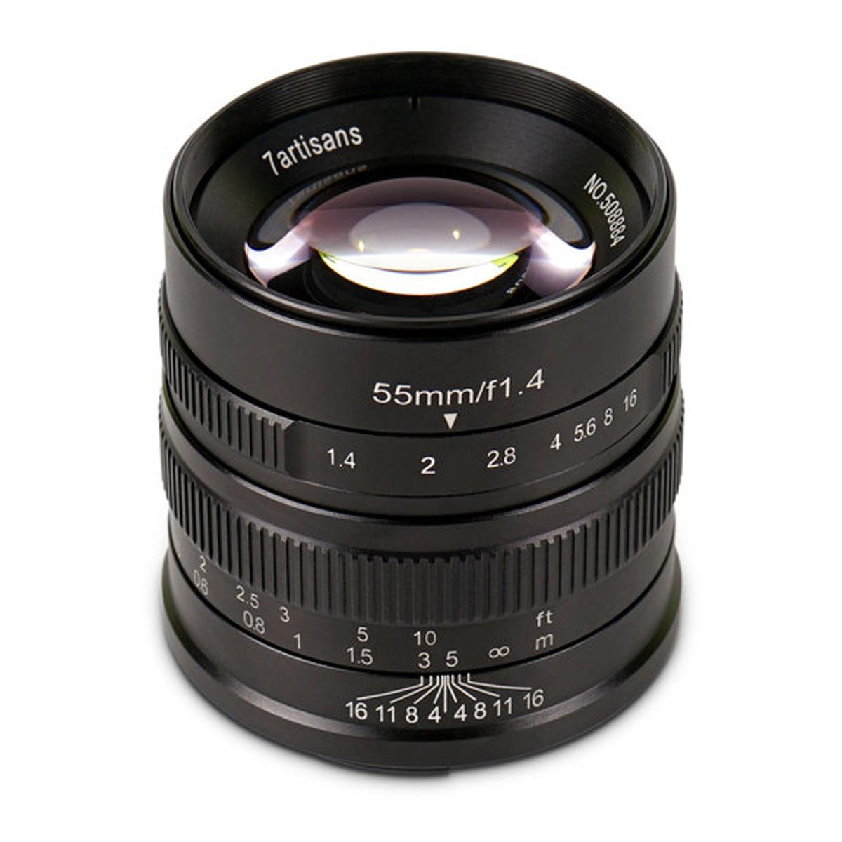 d134f9b6356 7ARTISANS 55MM F1.4 SONY E Lens I Compatible with Sony E Mirrorless Camera I