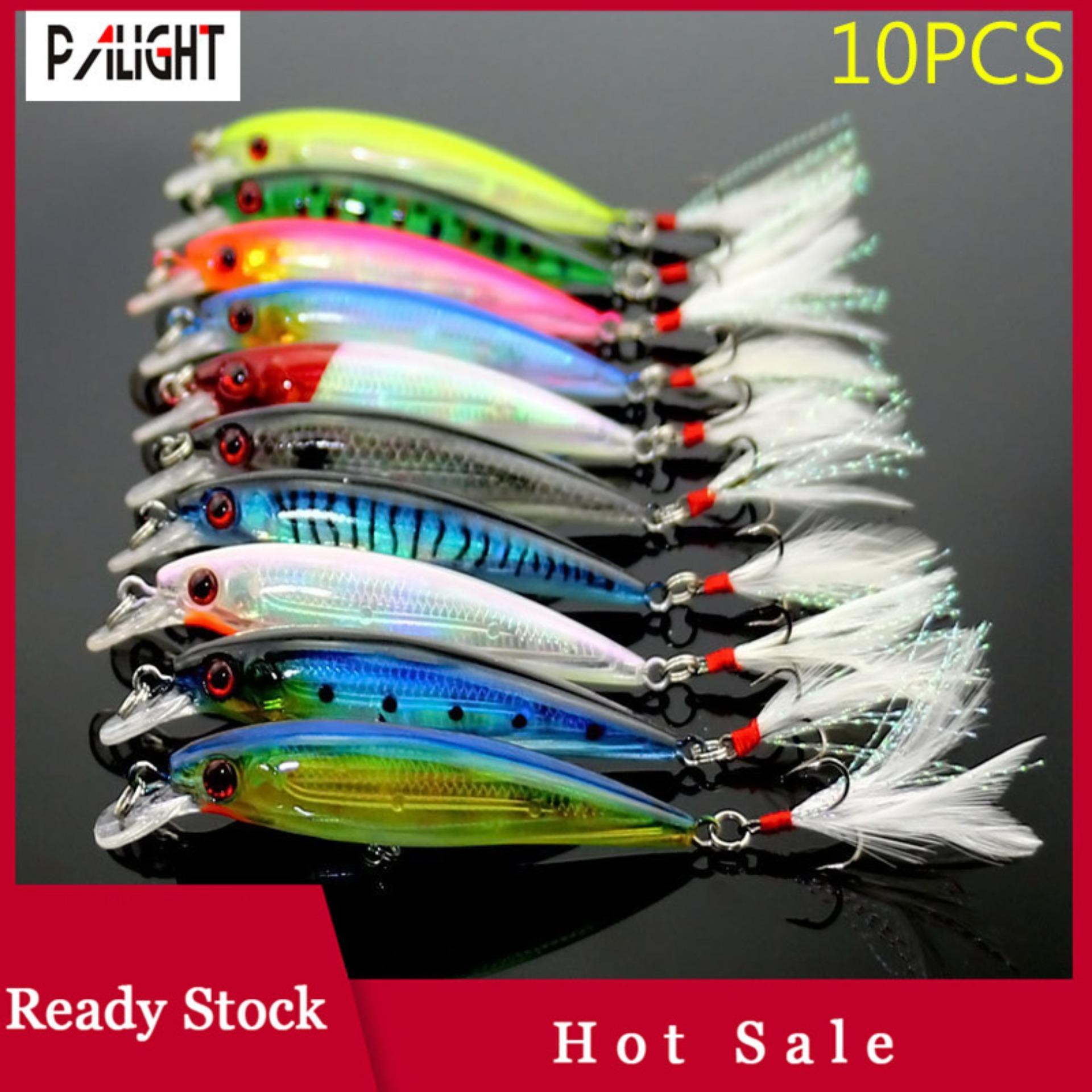 afbea6fa6  Hot Sale PAlight 10 Pcs Fishing Lure Minnow Wobblers Bait Tackle  Artificial Baits Crankbait