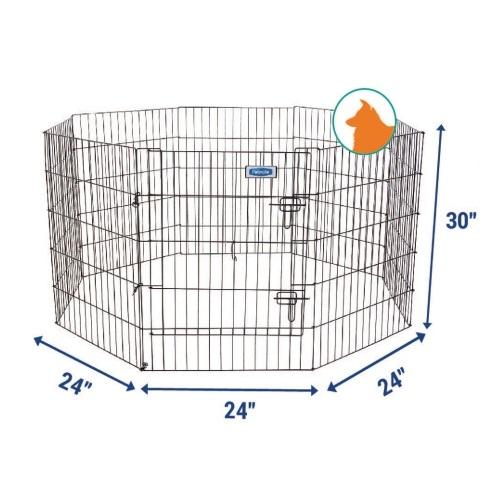 Petmate Exercise Pen W/door 30x24 8-Panels By Basic1.