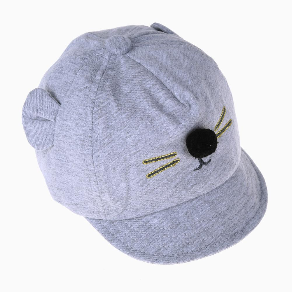 New Baby Hat Cartoon Cat Design Kids Baseball Cap Boys Girls Sun Hat - intl 2c7dcfe01651