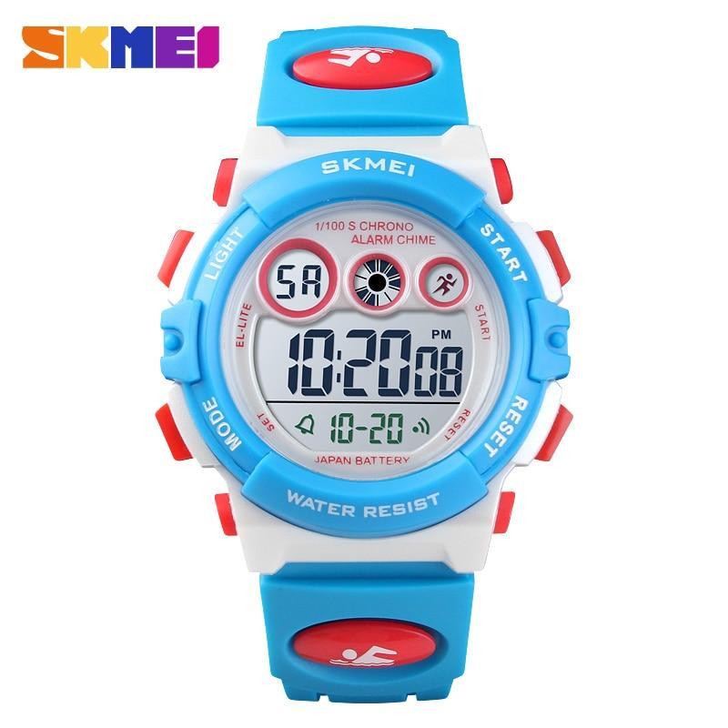 Skmei นาฬิกาข้อมือเด็กชายกันน้ำ Led กีฬาดิจิตอลนาฬิกาเด็กนาฬิกาปลุกนาฬิกาบอกวันที่สำหรับของขวัญเด็กผู้หญิง By Ze Long Bei Mall.