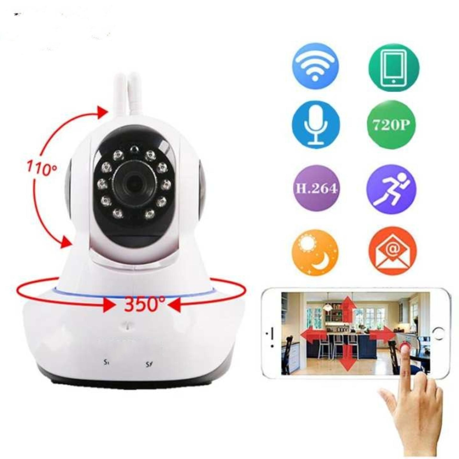 Indoor Security Camera, Baby Monitor - TENVIS T8810 WirelessSurveillance  WiFi IP / Network Cam, Night Vision, Motion Detection& 2 Way Audio, White