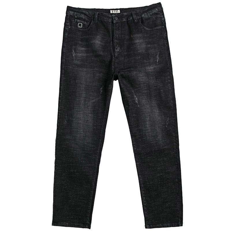 7413a7f4eb Spring Jeans man Loose Elasticity Skinny Plus-sized Youth Men Straight Long  Pants Versatile Popular