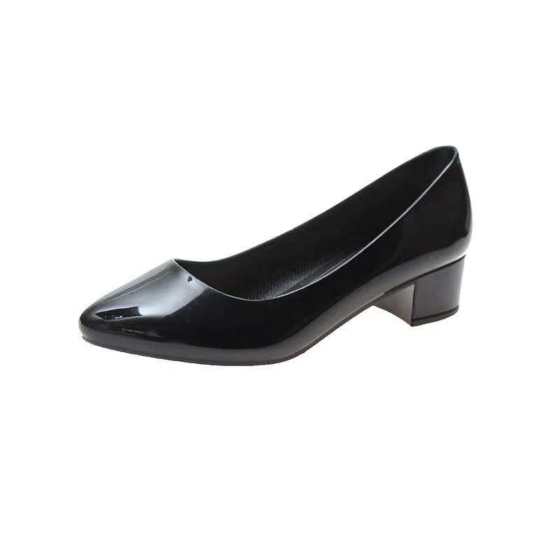 shoes office work heels black shoes 36