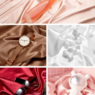 SQUSX Studio Mỹ Phẩm Cho Nhẫn Vải Lụa Cho Trang Sức Vải Mercerized, Phông Nền Chụp Ảnh Nền Đạo Cụ Chụp Ảnh thumbnail