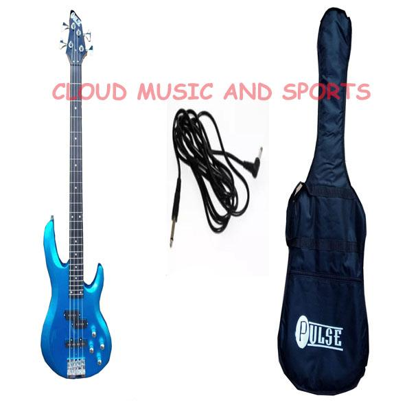 af99c217fa18 Pulse Bass Guitar 4 string (BLUE ) WITH BAG AND CORD