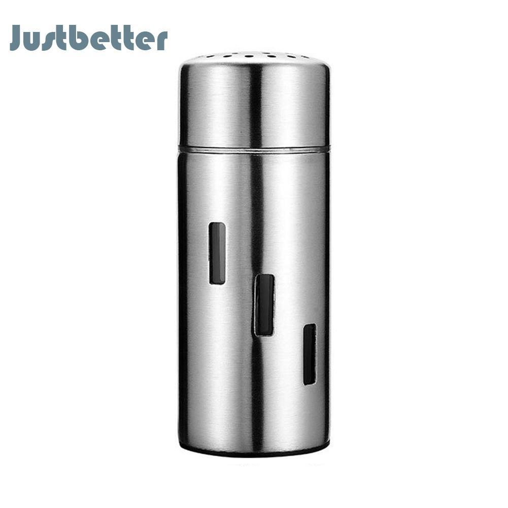 Stainless Steel Seasoning Jar Sugar Pepper Shaker Spice Storage Container By Justbetter.