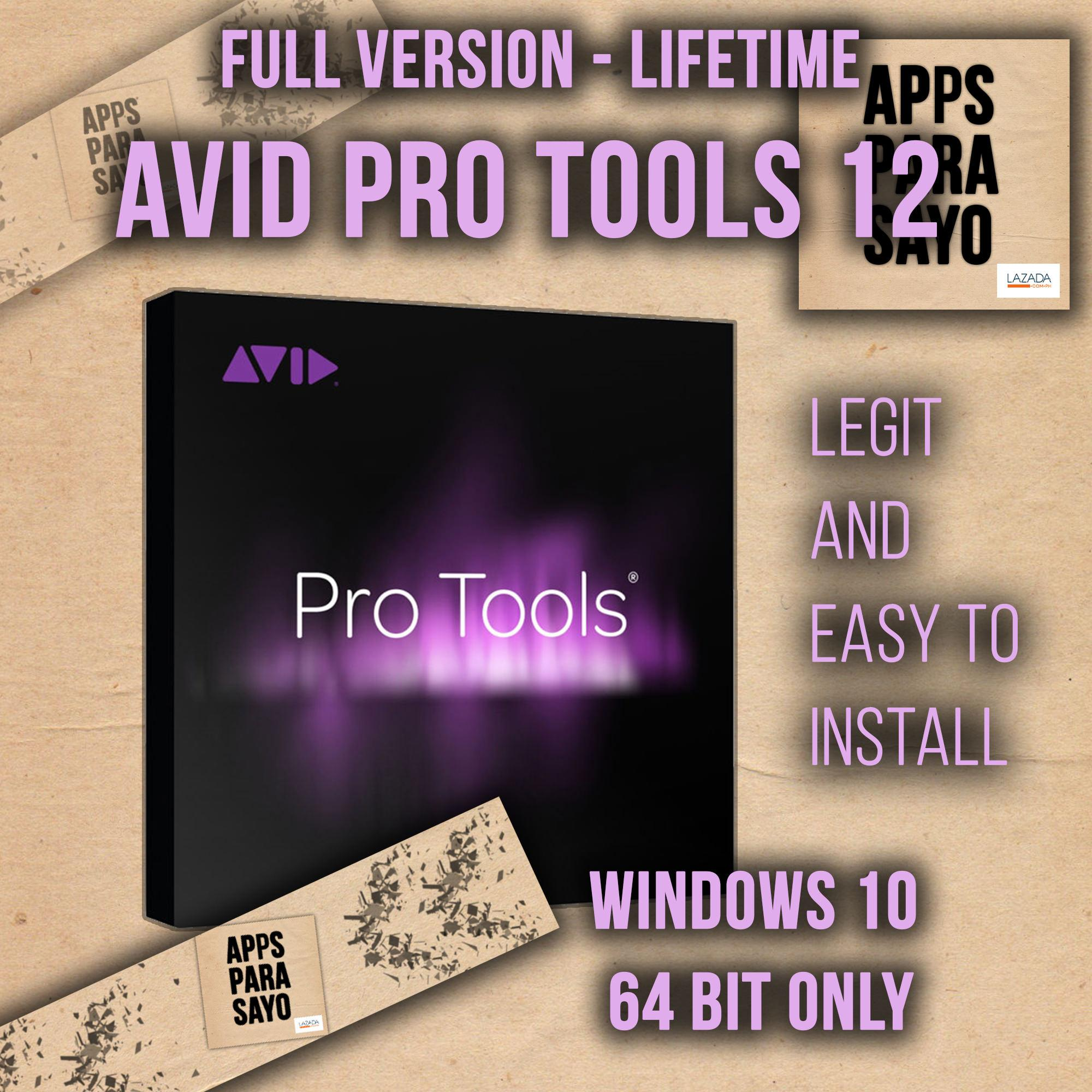 Avid Pro Tools 12 - lifetime version for Windows 10 64 bit only ( Create-  Collaborate- Be Heard)