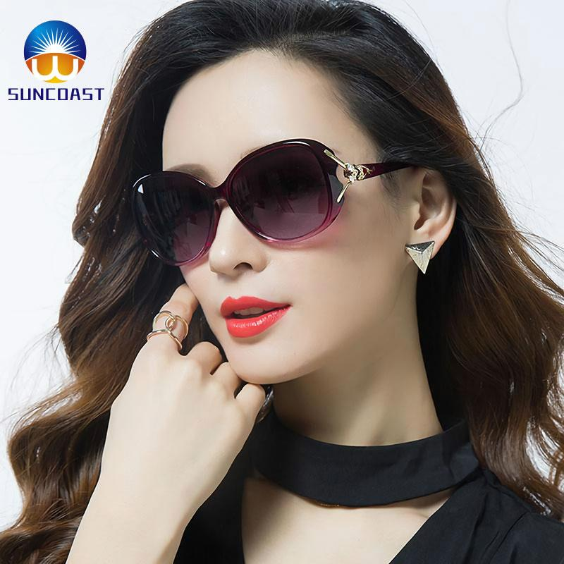 3ecc09d9b415 European and American-style fashionable sunglasses Women's Shades Oversized  Polarized Fox Sunglasses 100% UV