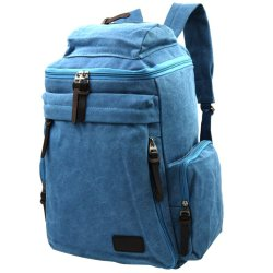 Canvas Outdoor and Travel Backpack 0086 (Blue)