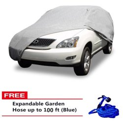 Car Cover for SUV (Grey) with 100ft Hose