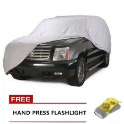 Car Cover for SUV with Free Hand Press Flashlight (Yellow)