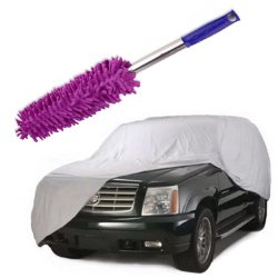 Car Cover Suv With Long Handle Cleaner Dust Remover (Violet)