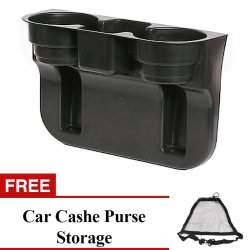 Car Valet Cup Holder with Free Car Cashe Purse Organizer