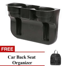 Car Valet Cup Holder with Free Car Seat Back Organizer