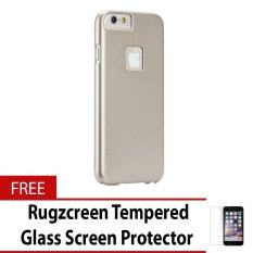Case-Mate CM031529 Barely There Case for iPhone 6 6s with Free Rugzcreen  Tempered fd38658479