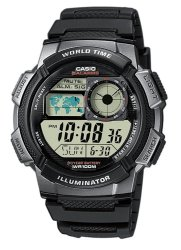 Casio Digital  AE-1000W-1BVDF Black Rubber Strap Men's Watch
