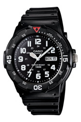 Casio Analog  MRW-200H-1BVDF Black Rubber Strap Unisex Watch