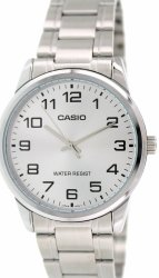 Casio Analog  MTP-V001D-7B Silver Stainless Steel Band Men's Watch