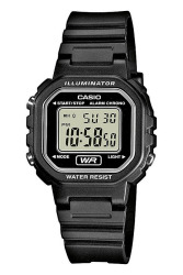 Casio Digital LA-20WH-1ADF Black Rubber Strap Women's Watch