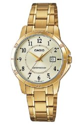 Casio Analog  LTP-V004G-9B Gold Stainless Steel Band Women's Watch