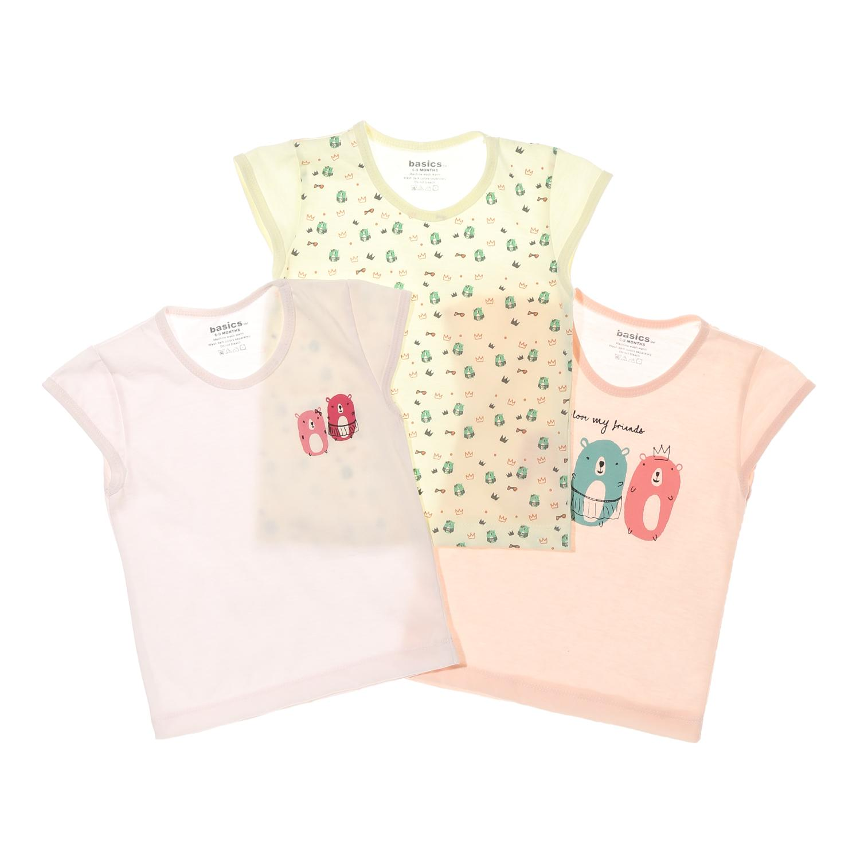 69f7bd117 SM Basics Baby Girls 3-piece I Love My Friends Cap Sleeves Top Set